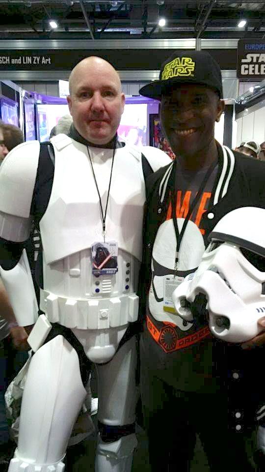 Star Wars Celebration Europe - First Order Stormtrooper Actor Phoenix James 5