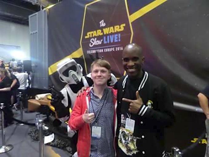 Star Wars Celebration Europe - First Order Stormtrooper Actor Phoenix James 9