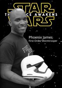 Star Wars First Order Stormtrooper Actors Phoenix James Episode 7 8 9 VII VIII IX