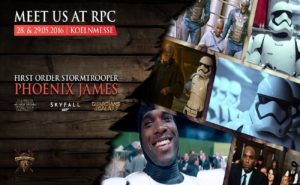 Star Wars - First Order Stormtrooper Actor - Phoenix James appearing at RPC -Role Play Convention 10th Year Anniversary at Koelnmesse GmbH in Cologne Koln Germany