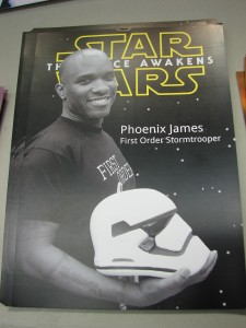 Stormtrooper Actor Phoenix James at ASFA Star Wars Episode 7 8 9 VII VIII IX Convention in Amélie les Bains in South of France - Photo by Virginie Maurille