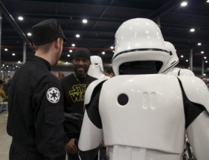 Stormtrooper Actor Phoenix James at Star Wars autograph signing event at Jaarbeurs in Utrecht - The Netherlands - Photo by Rosalie Avalon 10