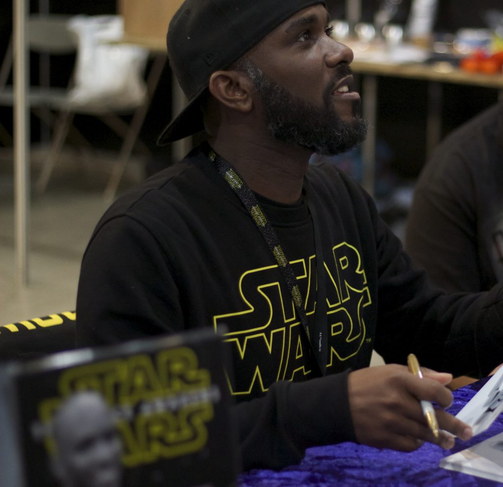 Stormtrooper Actor Phoenix James at Star Wars autograph signing event at Jaarbeurs in Utrecht - The Netherlands - Photo by Rosalee Avalon