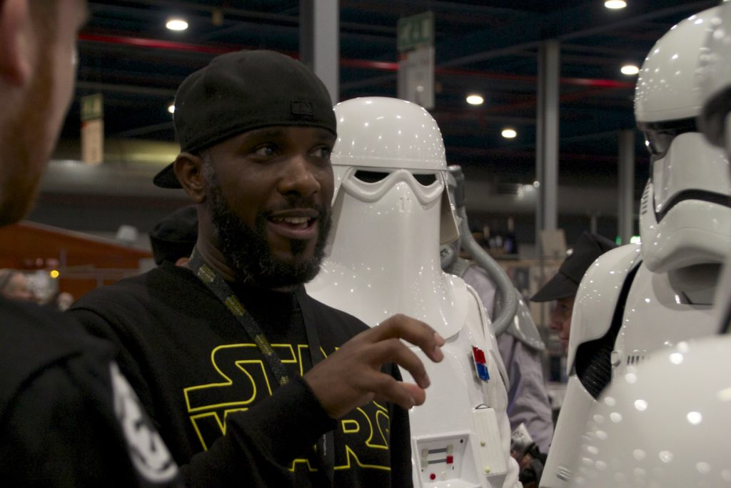 Stormtrooper Actor Phoenix James at Star Wars autograph signing event at Jaarbeurs in Utrecht - The Netherlands - Photo by Rosalee Avalon 12