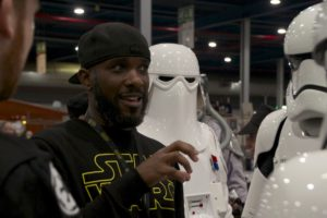 Stormtrooper Actor Phoenix James at Star Wars autograph signing event at Jaarbeurs in Utrecht - The Netherlands - Photo by Rosalie Avalon 12