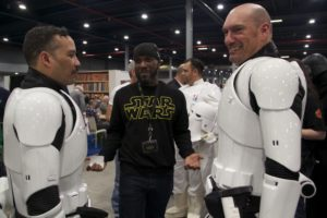 Stormtrooper Actor Phoenix James at Star Wars autograph signing event at Jaarbeurs in Utrecht - The Netherlands - Photo by Rosalie Avalon 17