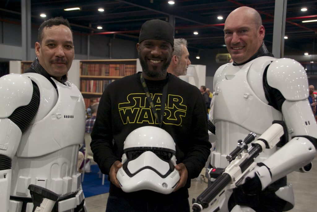 Stormtrooper Actor Phoenix James at Star Wars autograph signing event at Jaarbeurs in Utrecht - The Netherlands - Photo by Rosalee Avalon 18