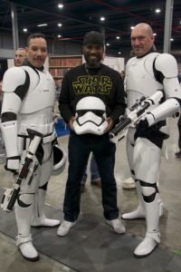 Stormtrooper Actor Phoenix James at Star Wars autograph signing event at Jaarbeurs in Utrecht - The Netherlands - Photo by Rosalie Avalon 19