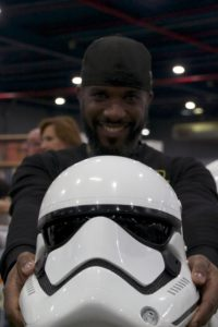 Stormtrooper Actor Phoenix James at Star Wars autograph signing event at Jaarbeurs in Utrecht - The Netherlands - Photo by Rosalie Avalon 20