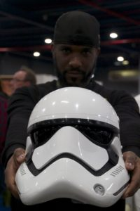 Stormtrooper Actor Phoenix James at Star Wars autograph signing event at Jaarbeurs in Utrecht - The Netherlands - Photo by Rosalie Avalon 21