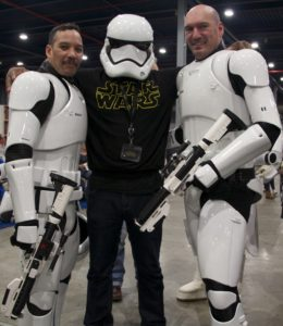 Stormtrooper Actor Phoenix James at Star Wars autograph signing event at Jaarbeurs in Utrecht - The Netherlands - Photo by Rosalie Avalon 25