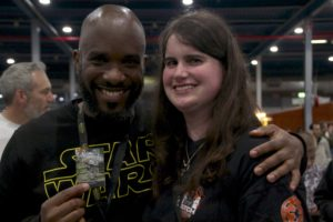Stormtrooper Actor Phoenix James at Star Wars autograph signing event at Jaarbeurs in Utrecht - The Netherlands - Photo by Rosalie Avalon 28