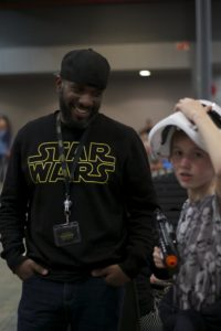 Stormtrooper Actor Phoenix James at Star Wars autograph signing event at Jaarbeurs in Utrecht - The Netherlands - Photo by Rosalie Avalon 3