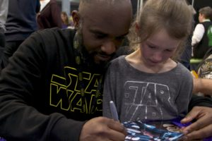 Stormtrooper Actor Phoenix James at Star Wars autograph signing event at Jaarbeurs in Utrecht - The Netherlands - Photo by Rosalie Avalon 35