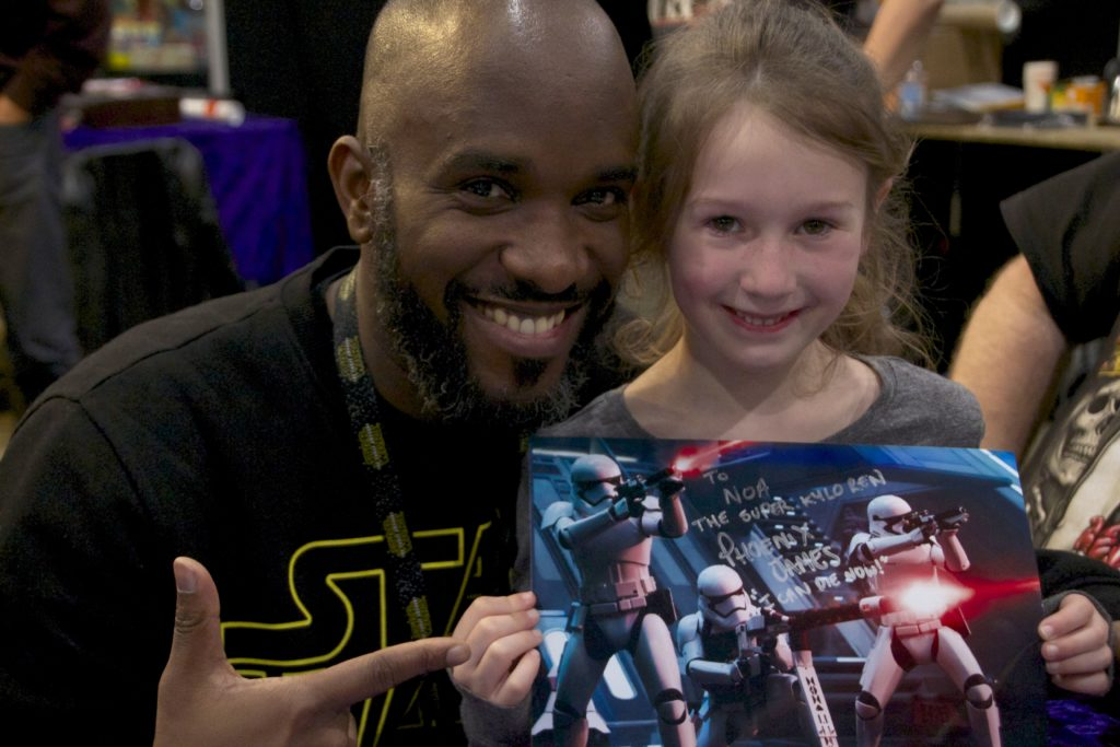 Stormtrooper Actor Phoenix James at Star Wars autograph signing event at Jaarbeurs in Utrecht - The Netherlands - Photo by Rosalee Avalon 36