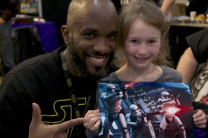 Stormtrooper Actor Phoenix James at Star Wars autograph signing event at Jaarbeurs in Utrecht - The Netherlands - Photo by Rosalie Avalon 36