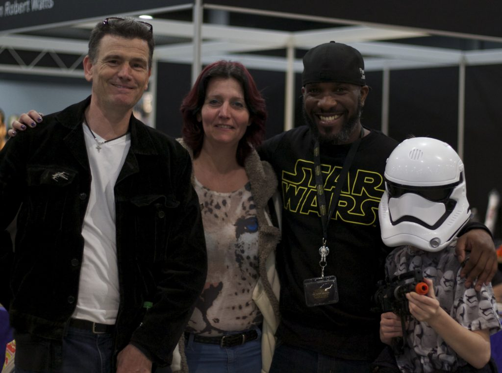 Stormtrooper Actor Phoenix James at Star Wars autograph signing event at Jaarbeurs in Utrecht - The Netherlands - Photo by Rosalee Avalon 4