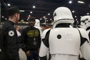 Stormtrooper Actor Phoenix James at Star Wars autograph signing event at Jaarbeurs in Utrecht - The Netherlands - Photo by Rosalie Avalon 9