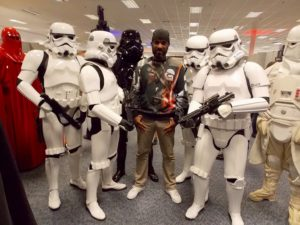 Stormtrooper Actor Phoenix James with members of the UK Garrison at Optimus Convention in Bristol 1